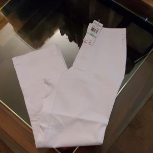 Alfred Dunner St Thomas Stretch NWTWhite Pants - 8